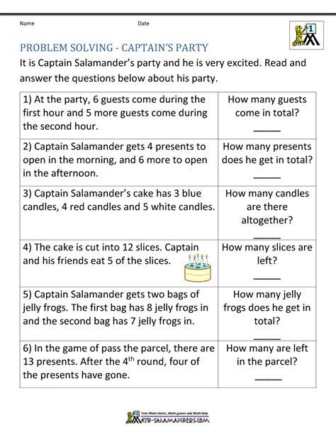 math problems for children 1st grade