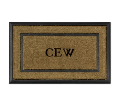 Personalized Coir Doormat by Personalized Rubber Coir Picture Frame Doormats