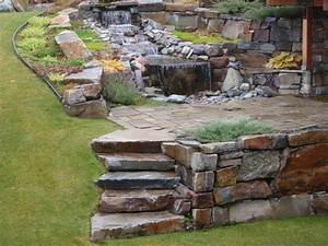 Yard Water Feature Natural Stone Landscape Wall Stone Water Feature Sbi Awesome Landscape Stepping Stones