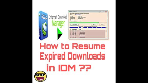 how to resume expired file links in idm solved