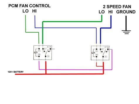 2 Speed Fan Wiring Diagram by How Do I Convert 2 Fans To A Single 2 Speed Fan Ls1tech