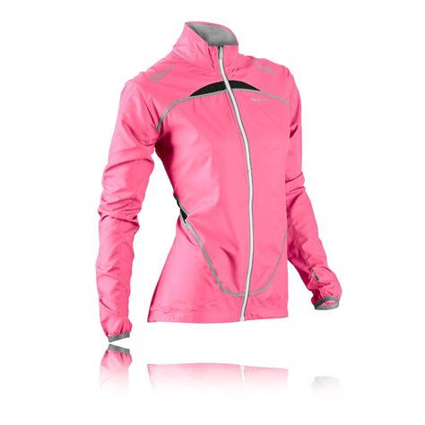 reflective waterproof cycling jacket sugoi zap lt womens pink waterproof reflective running