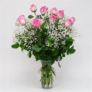 Dozen Pink Roses in Vase: Brattle Square Florist - since 1917