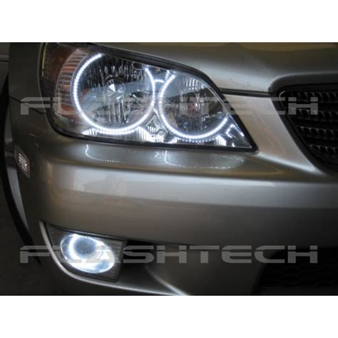 lexus is300 white led headlight halo kit 2001 2005
