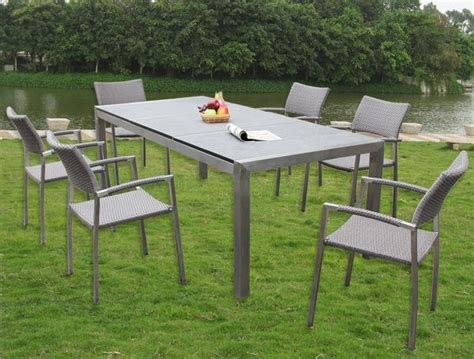 china stainless steel granite top outdoor table and chair