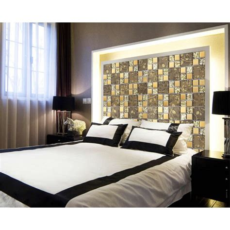 gold items glass mosaic tile wall backsplashes
