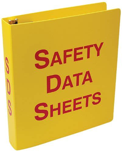 accuform zrs643 safety data sheets sds binder 3 ring 3