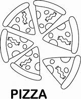 Pizza Coloring Pages Printable Foods Sheet Clipart Preschool Favorite Slice Pyramid Whole Preschoolers Worksheets Colouring Emoji Sheets Pie Meat Clip sketch template