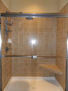 Walk-In Tiled Showers with Seats
