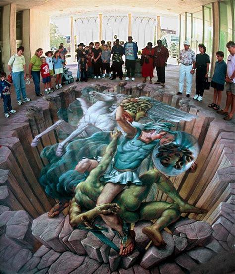 perseus  medusa pavement art gallery  kurt wenner