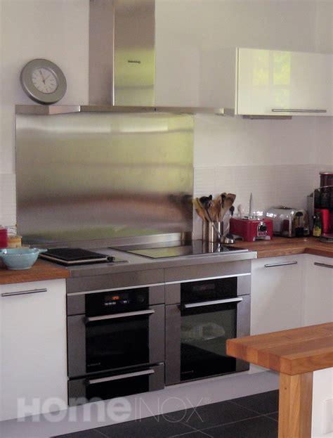 3 fr cuisine crédence inox et plan de cuisson inox