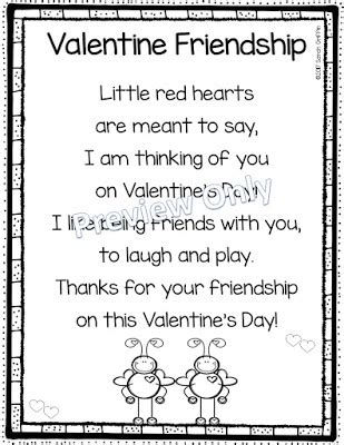 daughters and kindergarten 5 s day poems for 595 | Valentine%2BFriendship