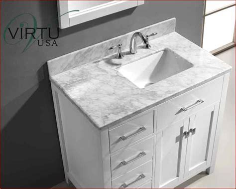 bathroom vanity  offset sink virtu usa