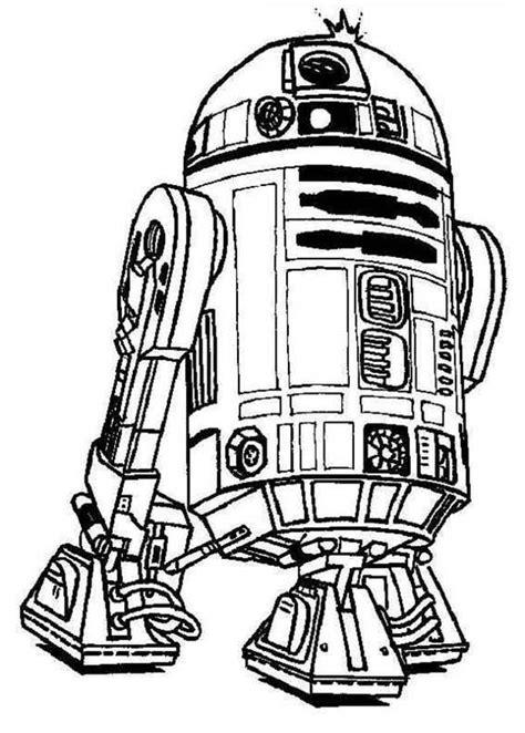 C3po Kleurplaat by R2d2 Droid In Wars Coloring Page