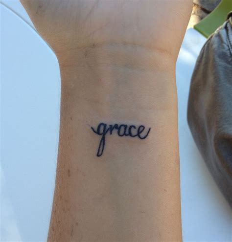 grace wrist tattoo sick tattoo bro pinterest grace