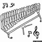 Vibraphone Thecolor Glockenspiel sketch template