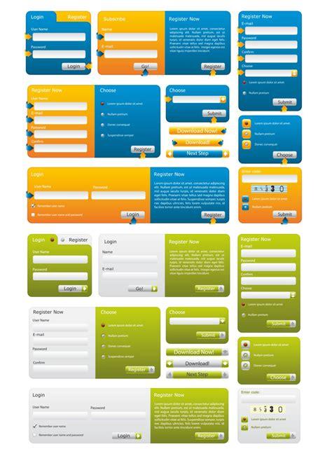 web forms templates vector vector graphics