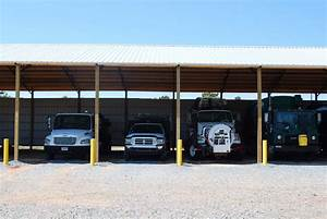 Open Shelter And Fully Enclosed Metal Pole Barns