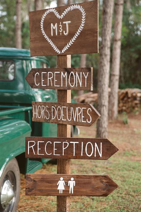 Directional Sign For Outdoor Rustic Wedding Tampa Bay