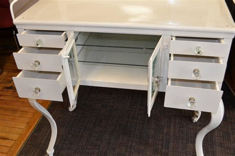 Early 1900s Medical Cabinet With Beveled Glass Mirror And Cabriole Legs At 1stdibs