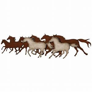 Galloping horses metal wall art