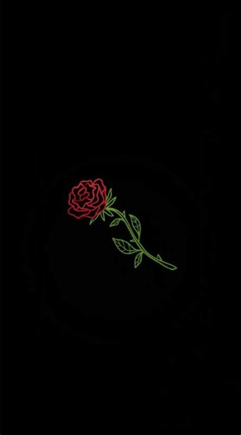 We have 64+ background pictures for you! Pinterest: @andresilvaa1904 #wallpaper #wallpaperiphone #black #simple #rose | Neon wallpaper ...
