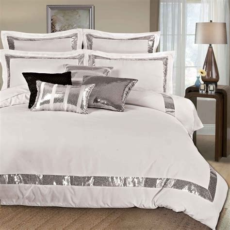 Cover Bedding by Sequins King Size Duvet Quilt Cover Set 3pcs Bed