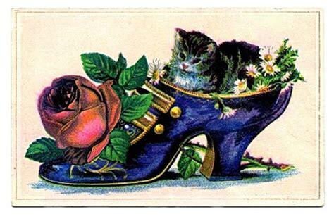 vintage clip art ladies shoe  cat  graphics fairy