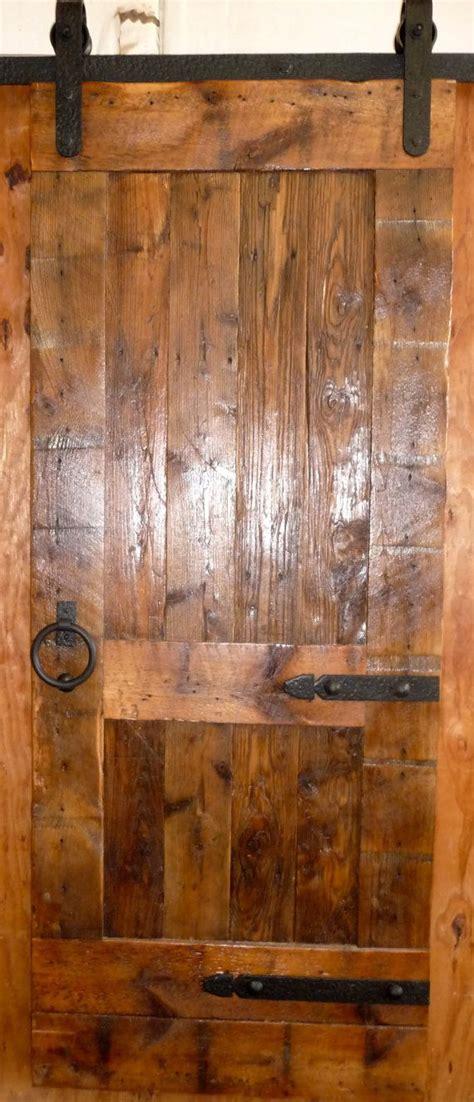 sliding barn door reclaimed antique wood original face