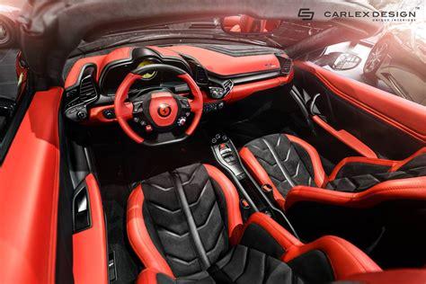 ferrari  spider  stunning  interior  carlex
