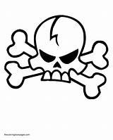 Coloring Skull Crossbones Pages Bones Template Printable Pirate Popular Clip Flag sketch template