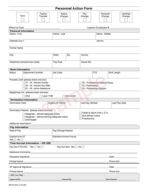 personnel action form personnel forms template 5 employee corrective plan template mail clerked