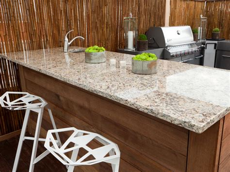 outdoor kitchen granite countertops outdoor kitchen countertops pictures tips expert ideas hgtv