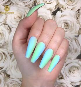30 matte coffin nails design with different colors