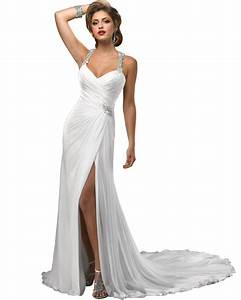 Online get cheap white dress casual wedding aliexpresscom for White casual wedding dress