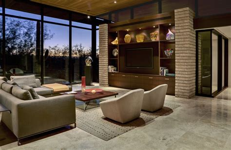 tucson residence kitchen contemporary living room