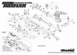Nitro Rustler  44094  Transmission Assembly