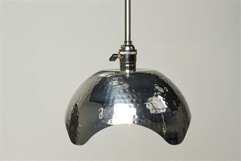 hammered gold brushed nickel edison bulb pendant light