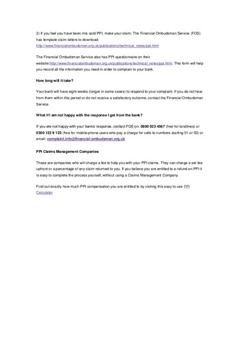 Ppi Claim Letter Template For Credit Card by Template Letter For Claiming Ppi On Credit Card Gallery