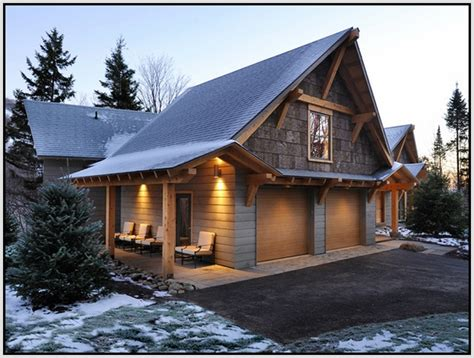 Garage Exterior Decoration Ideas From Wood Image Home