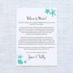 starfish wedding welcome letter itinerary beach With destination wedding welcome letter and itinerary