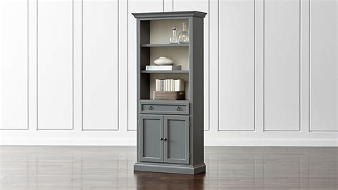 Bookcase With Closed Storage by Cameo Grey Storage Bookcase Reviews Crate And Barrel