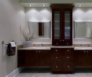 Contemporary bathroom vanities with storage cabinets for Kitchen craft bathroom vanities
