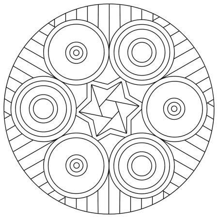 Coloriage Mandala Cp Librairie Interactive 40 Mandalas