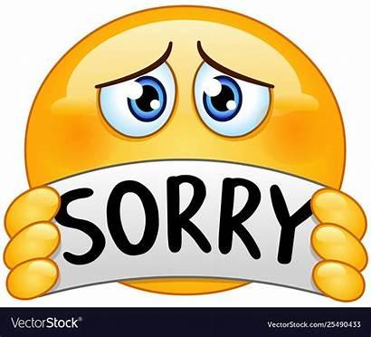 Sorry Emoticon Sign Vector Royalty