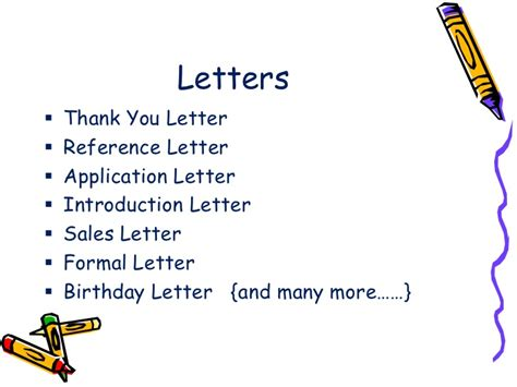 types  letters