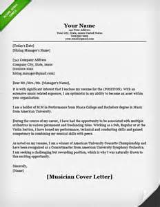 Musicians Resume by Musician Cover Letter Sle Resume Genius