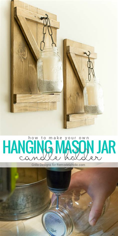 How To Make Rustic Decorations - remodelaholic diy rustic jar candle holder