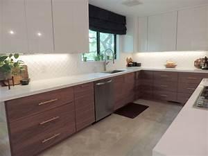 mid century modern ikea kitchen 2033