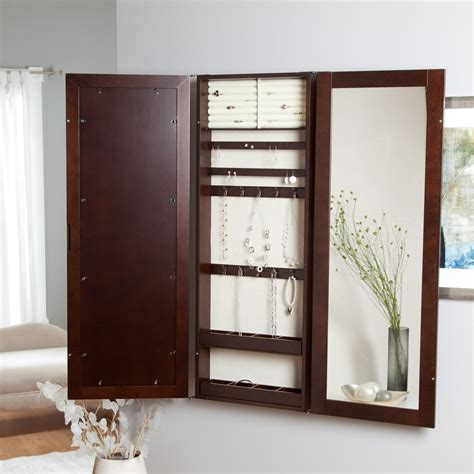 wall mounted jewelry cabinet with mirror 17 varied kinds of wall mount jewelry armoire to get and